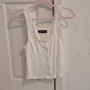Reformation ivory button up tank size L NWOT